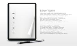 Ρεαλιστικό PC ταμπλετών στο λευκό Στοκ Φωτογραφίες