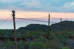 Ρευματοδότης Tenerife - ζωή στο μικρό χωριό στην επαρχία Στοκ Εικόνα