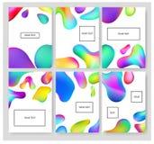 Ρευστά εμβλήματα χρωμάτων καθορισμένα Στοκ Φωτογραφίες
