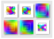 Ρευστά εμβλήματα χρωμάτων καθορισμένα Στοκ φωτογραφία με δικαίωμα ελεύθερης χρήσης