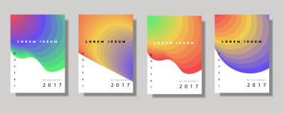 Ρευστές καλύψεις χρώματος καθορισμένες Ζωηρόχρωμη σύνθεση μορφών φυσαλίδων Καθιερώνον τη μόδα ελάχιστο σχέδιο Eps10 διάνυσμα διανυσματική απεικόνιση