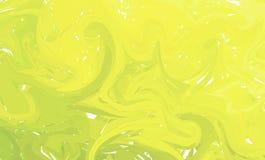 Ρευστό ζωηρόχρωμο υπόβαθρο μορφών Πράσινες και κίτρινες καθιερώνουσες τη μόδα κλίσεις Ρευστή σύνθεση μορφών Αφηρημένο σύγχρονο υγ ελεύθερη απεικόνιση δικαιώματος