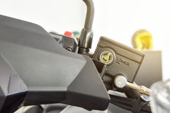 Ρευστό φρένων μοτοσικλετών, δεξαμενή φρένων Στοκ εικόνες με δικαίωμα ελεύθερης χρήσης