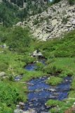 Ρεύμα βουνών στα Πυρηναία Στοκ φωτογραφίες με δικαίωμα ελεύθερης χρήσης