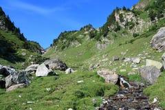Ρεύμα βουνών στα Πυρηναία Στοκ εικόνα με δικαίωμα ελεύθερης χρήσης