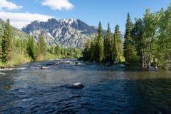 Ρεύμα βουνών στο μεγάλο εθνικό πάρκο Teton στοκ εικόνες