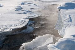 ρεύμα πάγου ελαφριάς ομίχ&la Στοκ φωτογραφίες με δικαίωμα ελεύθερης χρήσης