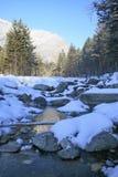 Ρεύμα χειμερινών βουνών Στοκ Εικόνες