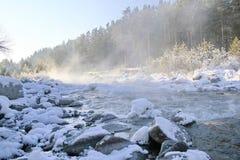 Ρεύμα χειμερινών βουνών Στοκ εικόνες με δικαίωμα ελεύθερης χρήσης