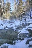 Ρεύμα χειμερινών βουνών Στοκ Εικόνα