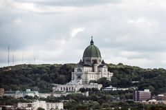 Ρητορική σκοτεινά χρώματα ημέρας του Μόντρεαλ, Κεμπέκ Καναδάς Αγίου Joseph νεφελώδη Στοκ Φωτογραφίες