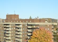 Ρητορική του ST Joseph πίσω από τη στέγη του κατοικημένου κτηρίου Στοκ φωτογραφία με δικαίωμα ελεύθερης χρήσης
