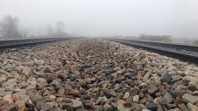 ρηχή διαδρομή σιδηροδρόμων πεδίων βάθους στοκ εικόνα