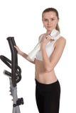 ρηχή μαλακή γυναίκα πετσετών εστίασης πεδίων βάθους Στοκ φωτογραφία με δικαίωμα ελεύθερης χρήσης