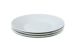 ρηχό λευκό πιάτων Στοκ φωτογραφίες με δικαίωμα ελεύθερης χρήσης