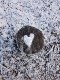 ρηχό χιόνι καρδιών πεδίων βάθους Στοκ φωτογραφία με δικαίωμα ελεύθερης χρήσης