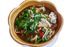 Ριβήσιο αστεριών και κόκκινο κάρρυ αυγών μυρμηγκιών, ταϊλανδικά τρόφιμα Στοκ Φωτογραφίες