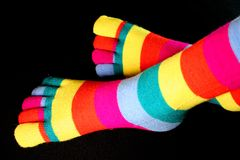 Ριγωτές κάλτσες Στοκ φωτογραφία με δικαίωμα ελεύθερης χρήσης