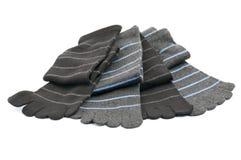 Ριγωτές κάλτσες toe Στοκ Φωτογραφίες