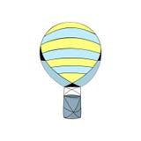 Ριγωτή διανυσματική απεικόνιση μπαλονιών ζεστού αέρα Στοκ Εικόνες