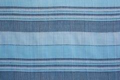 ριγωτή σύσταση του μπλε φυσικού εσωτερικού υφάσματος στοκ εικόνα με δικαίωμα ελεύθερης χρήσης