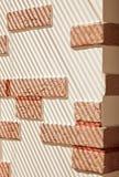 ριγωτός τοίχος φωτός του ή Στοκ Εικόνες
