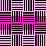 Ριγωτό άνευ ραφής σχέδιο με την οριζόντια και κάθετη γραμμή Μαύρο και ρόδινο σχέδιο γραφικής παράστασης μόδας Πρότυπο για ελεύθερη απεικόνιση δικαιώματος