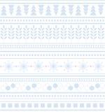 Ριγωτό γεωμετρικό άνευ ραφής χειμερινό σχέδιο διακοσμήσεων Στοκ εικόνα με δικαίωμα ελεύθερης χρήσης