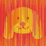 Ριγωτό κίτρινο σκυλί απεικόνιση αποθεμάτων