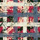 Ριγωτό σχέδιο με τις βουρτσισμένες γραμμές Στοκ φωτογραφίες με δικαίωμα ελεύθερης χρήσης