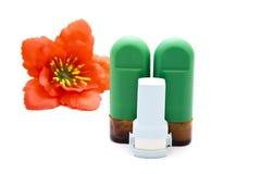 Ρινικός ψεκασμός με Inhaler άσθματος Στοκ Εικόνα