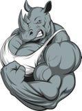 ρινόκερος ισχυρός ελεύθερη απεικόνιση δικαιώματος