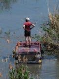 ριψοκινδυνεμμένο ανταγωνισμός Λίμνη λακκούβα Το έλος στοκ εικόνα
