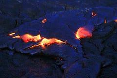 Ροές λάβας από Hawaii& x27 ηφαίστειο lauea του s KÄ « Στοκ εικόνα με δικαίωμα ελεύθερης χρήσης