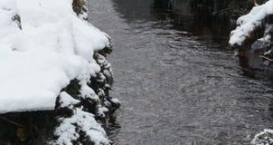 Ροές χειμερινών ρευμάτων απόθεμα βίντεο