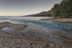 Ροές Crni Drim ποταμών στη λίμνη Οχρίδα, Μακεδονία Στοκ φωτογραφία με δικαίωμα ελεύθερης χρήσης