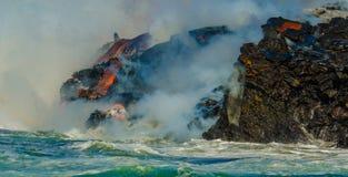 Ροή λάβας ηφαιστείων Kilauea Στοκ Φωτογραφίες