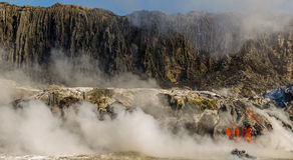 Ροή λάβας ηφαιστείων Kilauea στοκ φωτογραφία