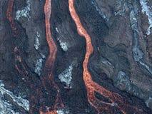 Ροή λάβας στο εθνικό πάρκο ηφαιστείων της Χαβάης, ΗΠΑ Στοκ Εικόνα