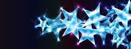 Ροή αστεριών ευπρόσδεκτη εσείς επίδραση εμβλημάτων RGB ελεύθερη απεικόνιση δικαιώματος