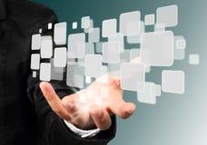 ροή εικόνων εκμετάλλευσης χεριών επιχειρηματιών στοκ εικόνες