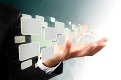 ροή εικόνων εκμετάλλευσης χεριών επιχειρηματιών Στοκ εικόνες με δικαίωμα ελεύθερης χρήσης