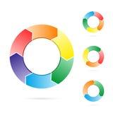 ροή κύκλων βελών διανυσματική απεικόνιση