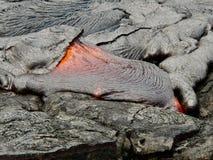 Ροή λάβας έκρηξης ηφαιστείων Εθνικό πάρκο Kilauea ηφαιστείων, στοκ φωτογραφία με δικαίωμα ελεύθερης χρήσης