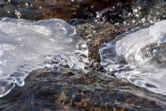 Ροή σχεδίων χιονιού πάγου νερού Στοκ Εικόνα