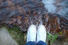 Ροή του νερού έγκαιρη Στοκ φωτογραφία με δικαίωμα ελεύθερης χρήσης