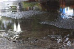 Ροή του νερού, μετά από να βρέξει στοκ εικόνα