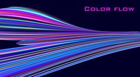 Ροή χρώματος Ζωηρόχρωμο κύμα στο μαύρο υπόβαθρο να είστε μπορεί σχεδιαστής κάθε evgeniy διάνυσμα πρωτοτύπων αντικειμένου γραφικής διανυσματική απεικόνιση