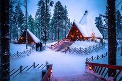 Ροβανιέμι - 16 Δεκεμβρίου 2017: Χωριό Άγιου Βασίλη του Ροβανιέμι, Στοκ Φωτογραφίες