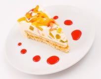 ροδάκινο τυριών κέικ Στοκ εικόνα με δικαίωμα ελεύθερης χρήσης